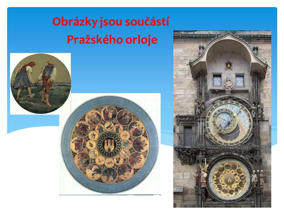 Obrázky jsou součástí Pražského orloje