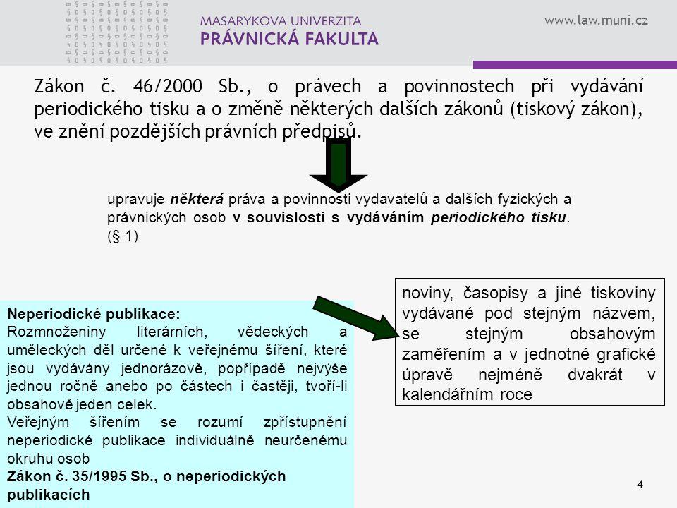 www.law.muni.cz 4 Zákon č.