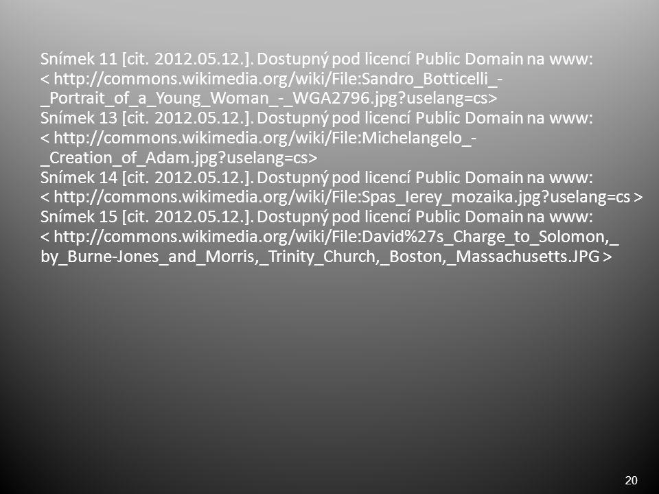 20 Snímek 11 [cit. 2012.05.12.].