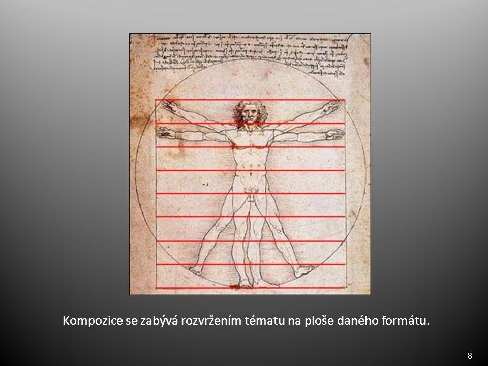 8 Kompozice se zabývá rozvržením tématu na ploše daného formátu.