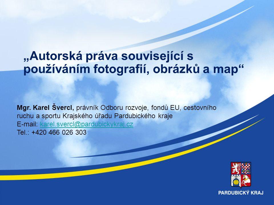 """""""Autorská práva související s používáním fotografií, obrázků a map Mgr."""