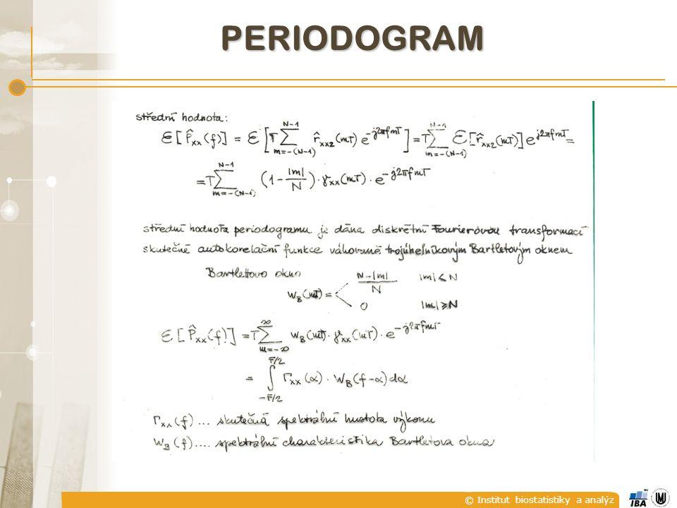 © Institut biostatistiky a analýz PERIODOGRAM