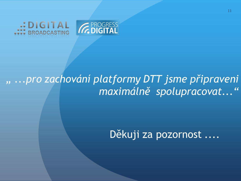"""""""...pro zachování platformy DTT jsme připraveni maximálně spolupracovat..."""" Děkuji za pozornost.... 11"""