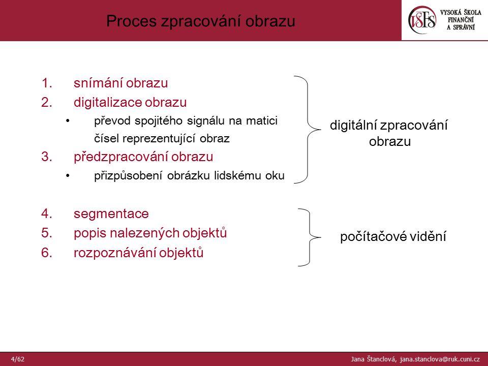 32 ×32Originál (256 × 256 ) Příklady vzorkování - IV 35/62 Jana Štanclová, jana.stanclova@ruk.cuni.cz