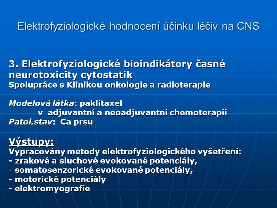 Elektrofyziologické hodnocení účinku léčiv na CNS 3.