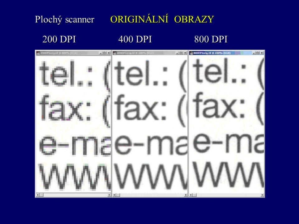 Plochý scanner ORIGINÁLNÍ OBRAZY 200 DPI 400 DPI 800 DPI