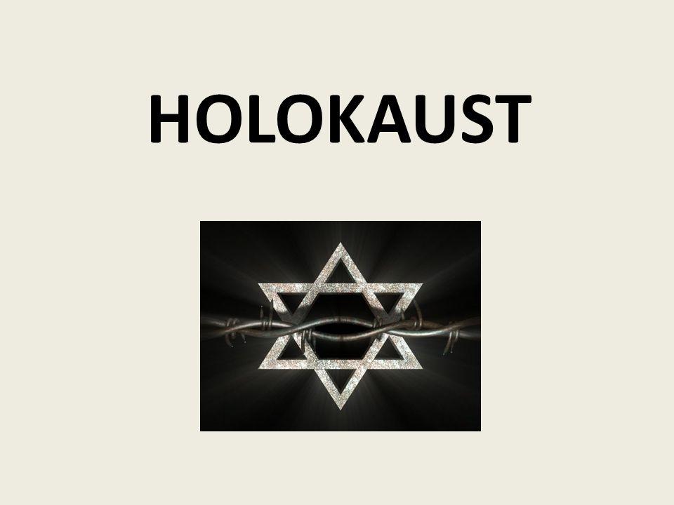 Holocaust patřil k nejhrůznějším obdobím v dějinách Jednalo se o systematickou likvidaci 6 milionů židů v průběhu druhé světové války Antisemitismus - Nenávist, diskriminace židů -Proti jednotlivcům i velkým komunitám (obcím) Pogrom -Extremní projev nenávisti, spojený se zabíjením židovského obyvatelstva a ničením jejich majetku