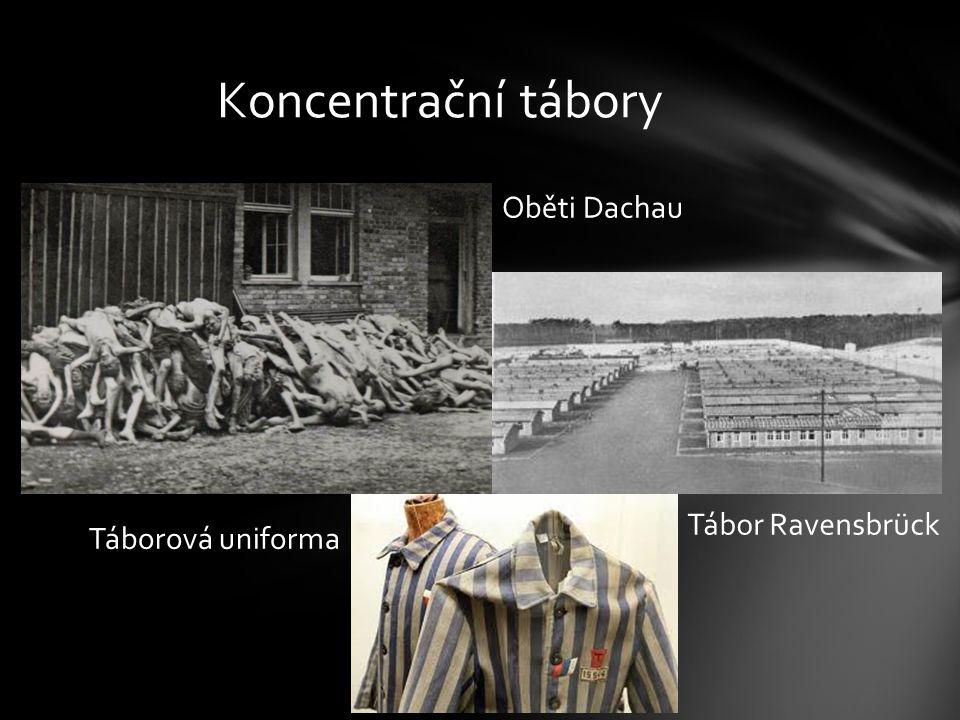 Koncentrační tábory Oběti Dachau Tábor Ravensbrück Táborová uniforma