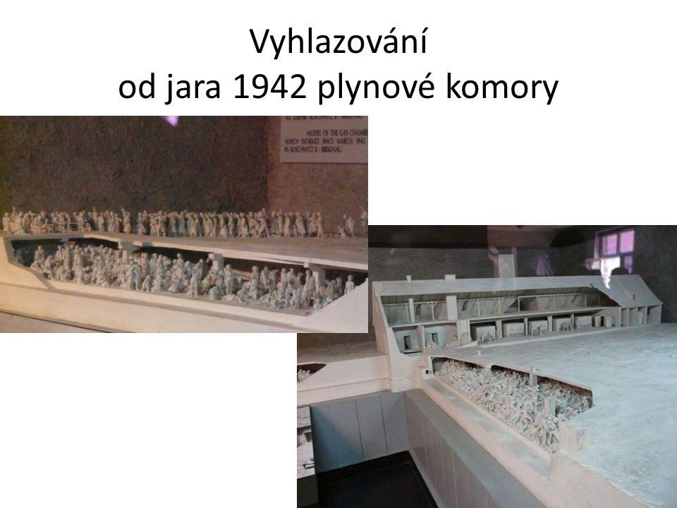 Vyhlazování od jara 1942 plynové komory