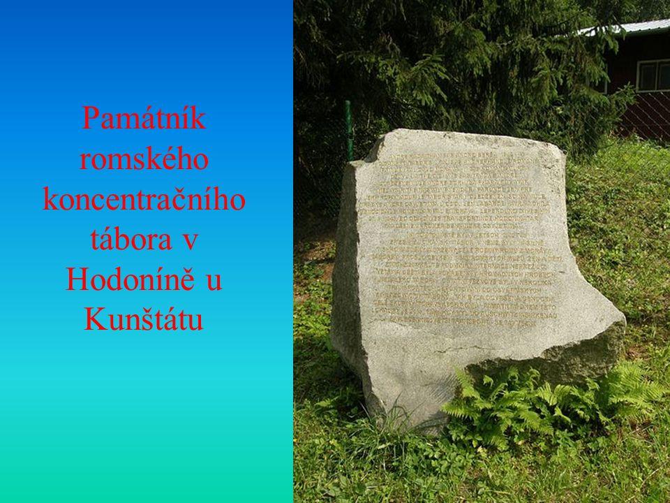 Památník romského koncentračního tábora v Hodoníně u Kunštátu