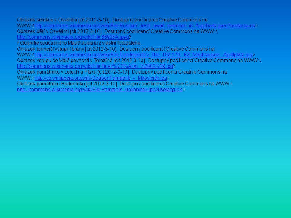 Obrázek selekce v Osvětimi  cit.2012-3-10 .
