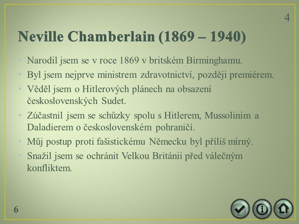 Narodil jsem se v roce 1869 v britském Birminghamu.