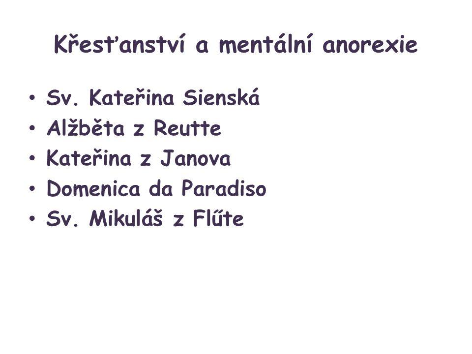 Křesťanství a mentální anorexie Sv.