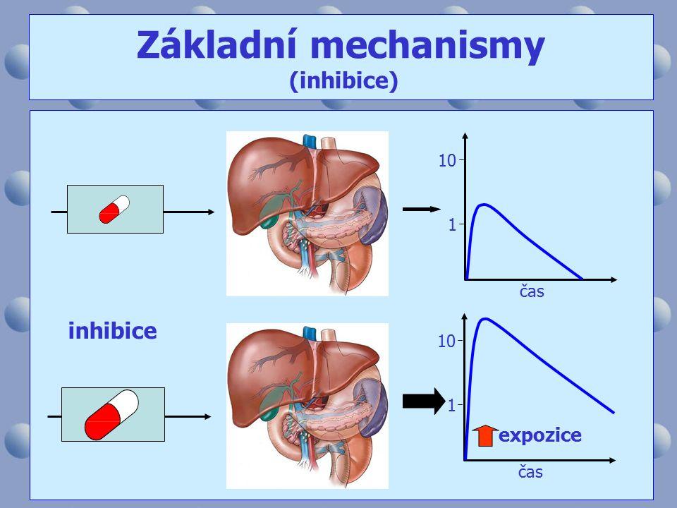 10 1 čas 10 1 inhibice expozice Základní mechanismy (inhibice)