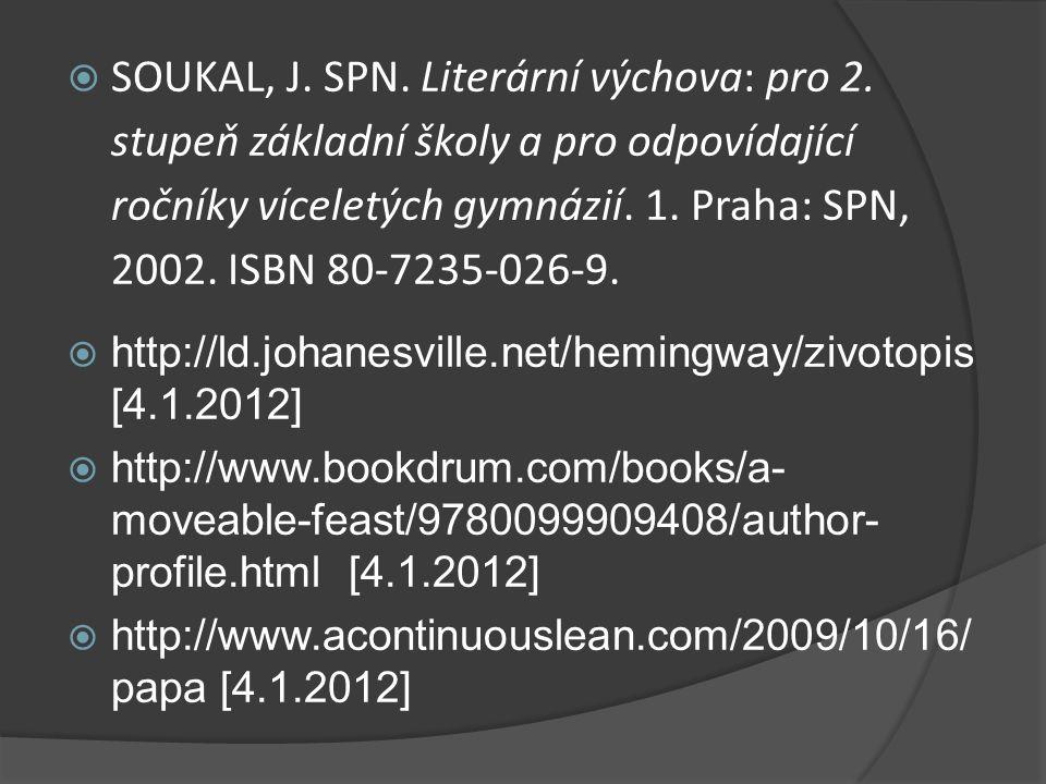  SOUKAL, J. SPN. Literární výchova: pro 2.