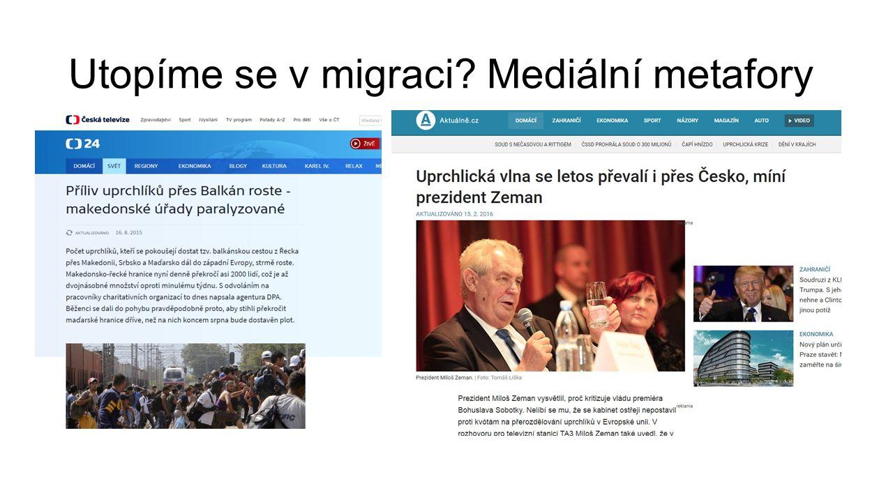 Utopíme se v migraci Mediální metafory
