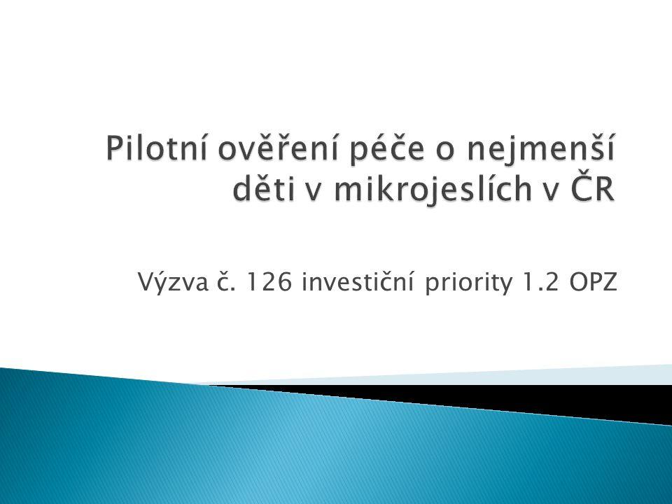 Výzva č. 126 investiční priority 1.2 OPZ