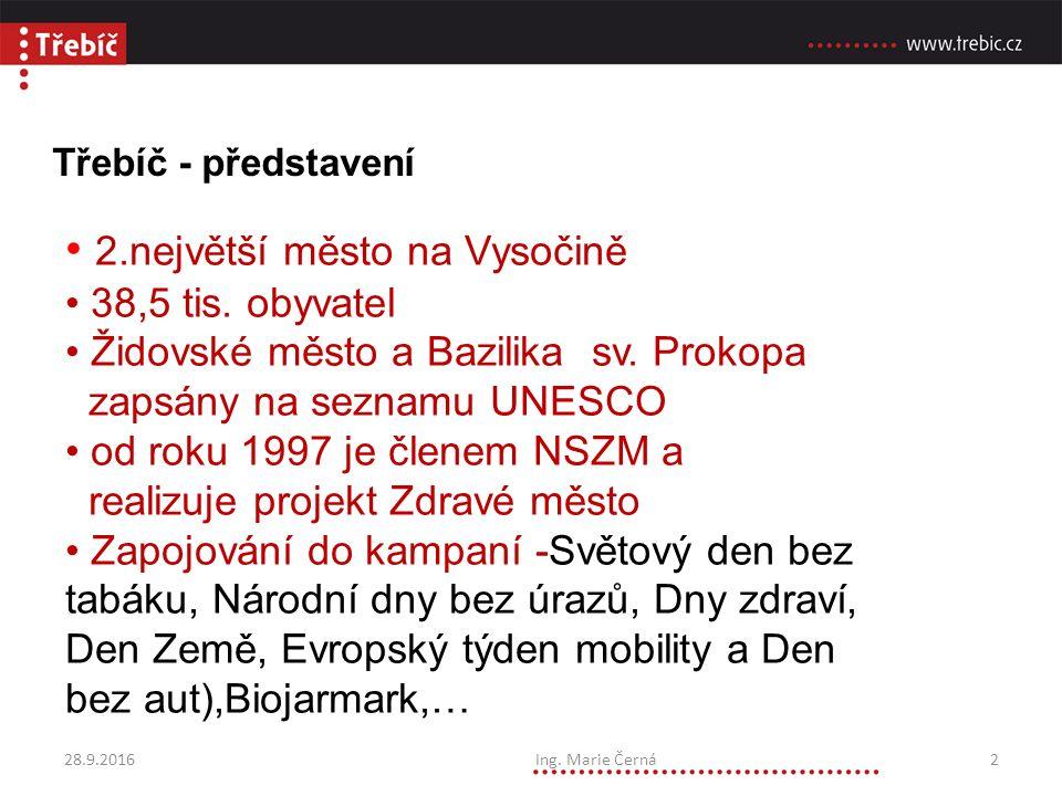 Třebíč - představení 2.největší město na Vysočině 38,5 tis.
