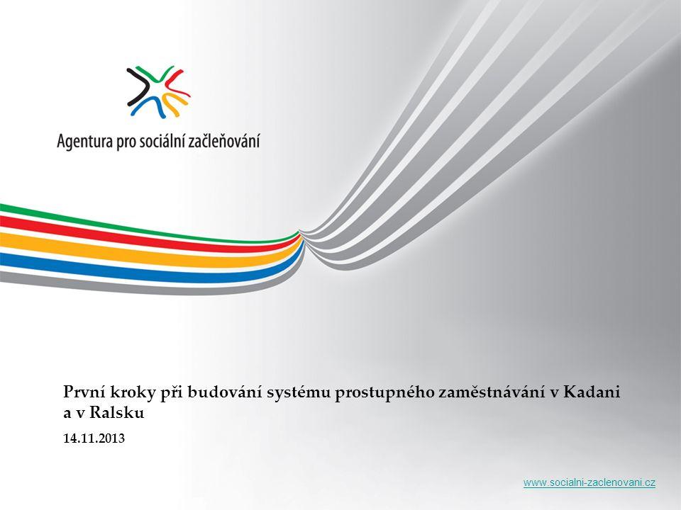 www.socialni-zaclenovani.cz První kroky při budování systému prostupného zaměstnávání v Kadani a v Ralsku 14.11.2013