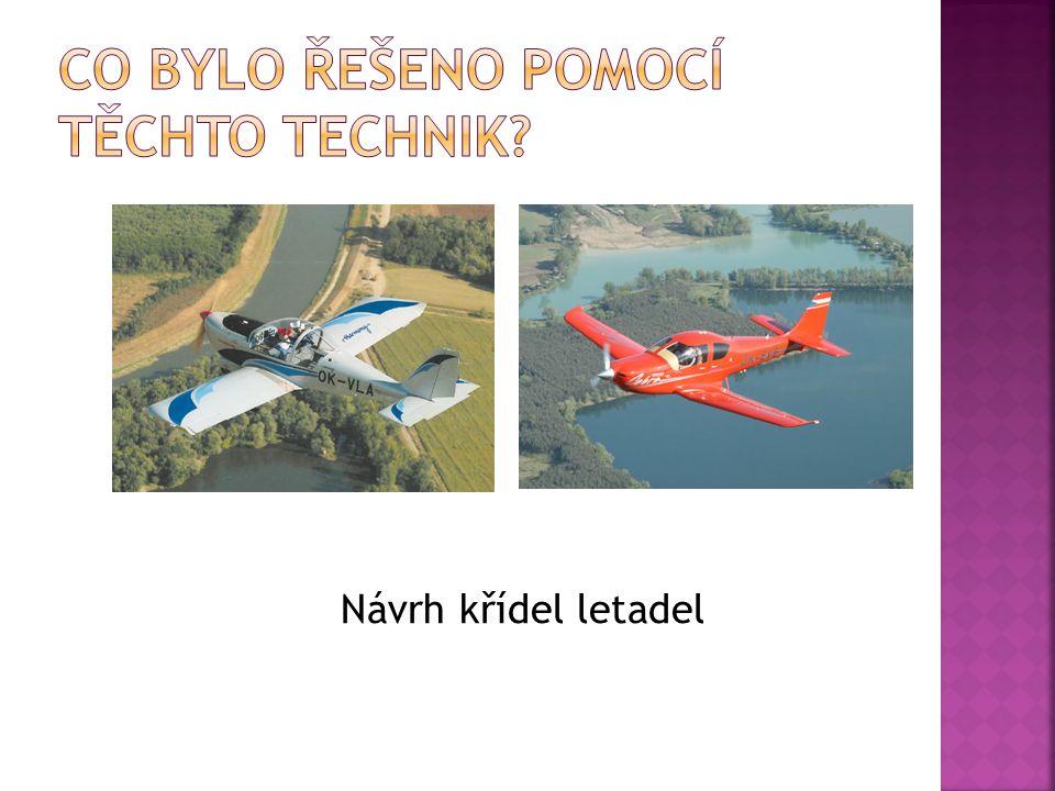 Návrh křídel letadel