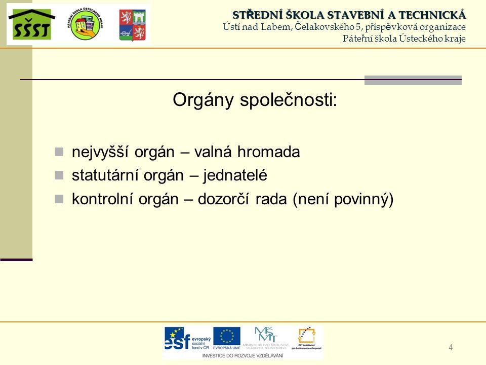 5 statutární orgán – min.