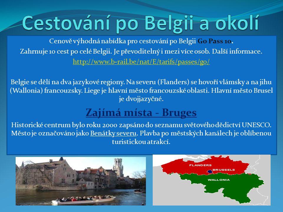 Cenově výhodná nabídka pro cestování po Belgii Go Pass 10.
