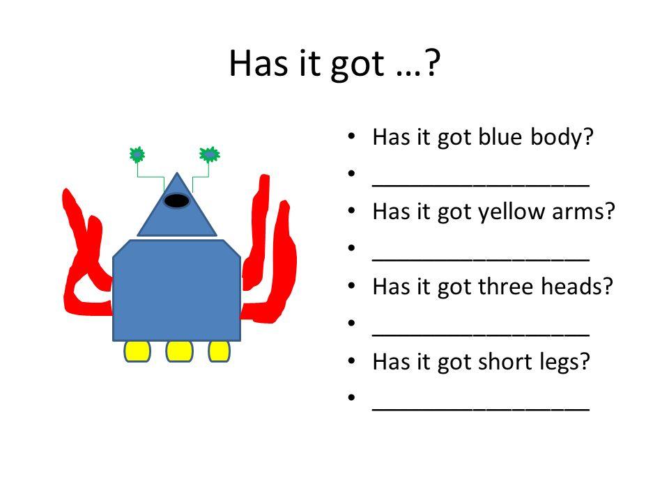 DOKRESLI PŘÍŠERKU ŘEŠENÍ: It has got four short legs.