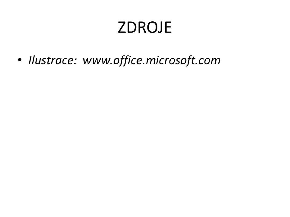 ZDROJE Ilustrace: www.office.microsoft.com