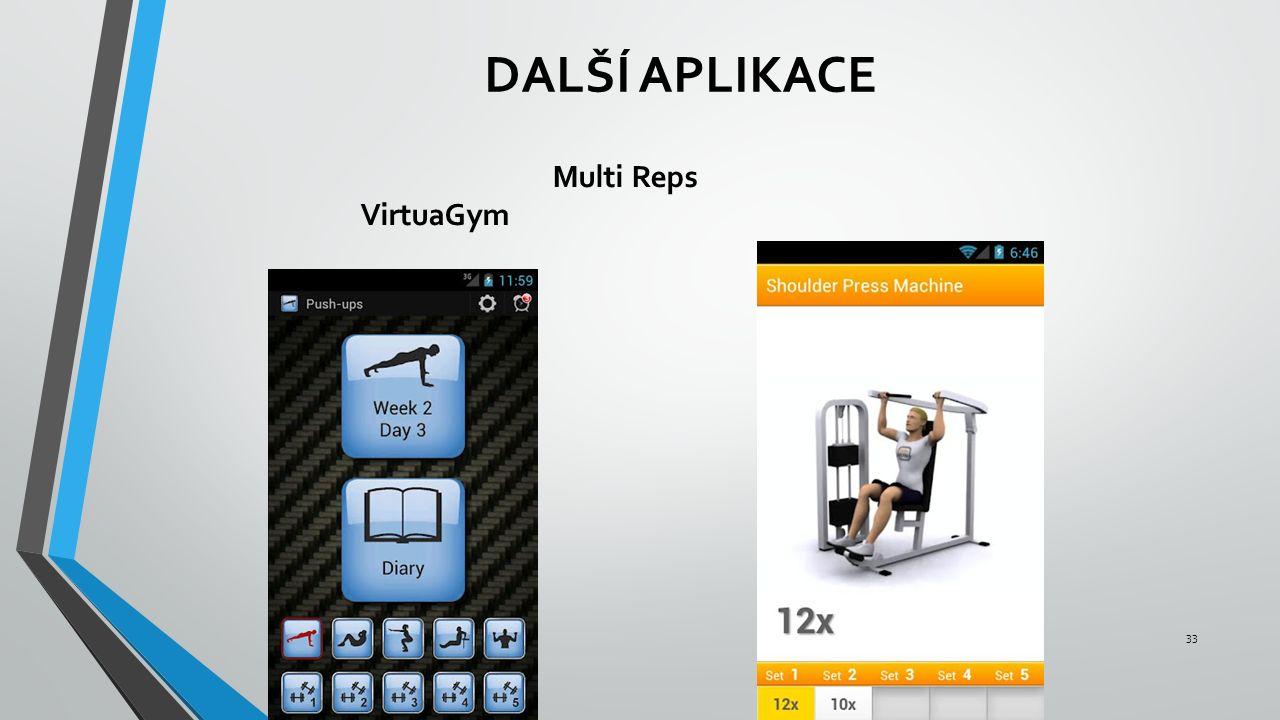 DALŠÍ APLIKACE Multi Reps VirtuaGym 33