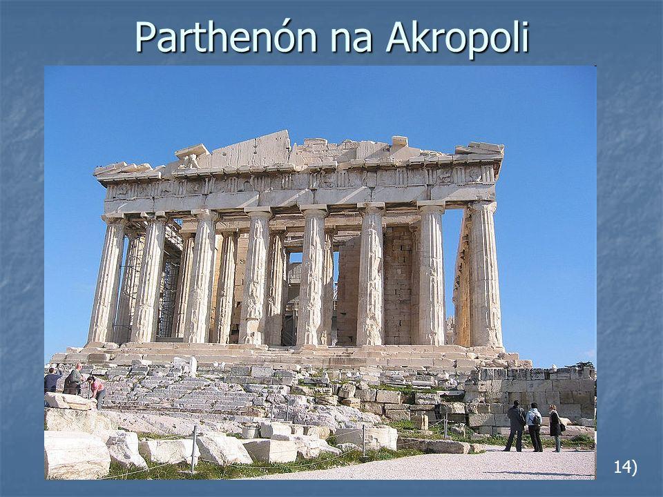 Parthenón na Akropoli 14)