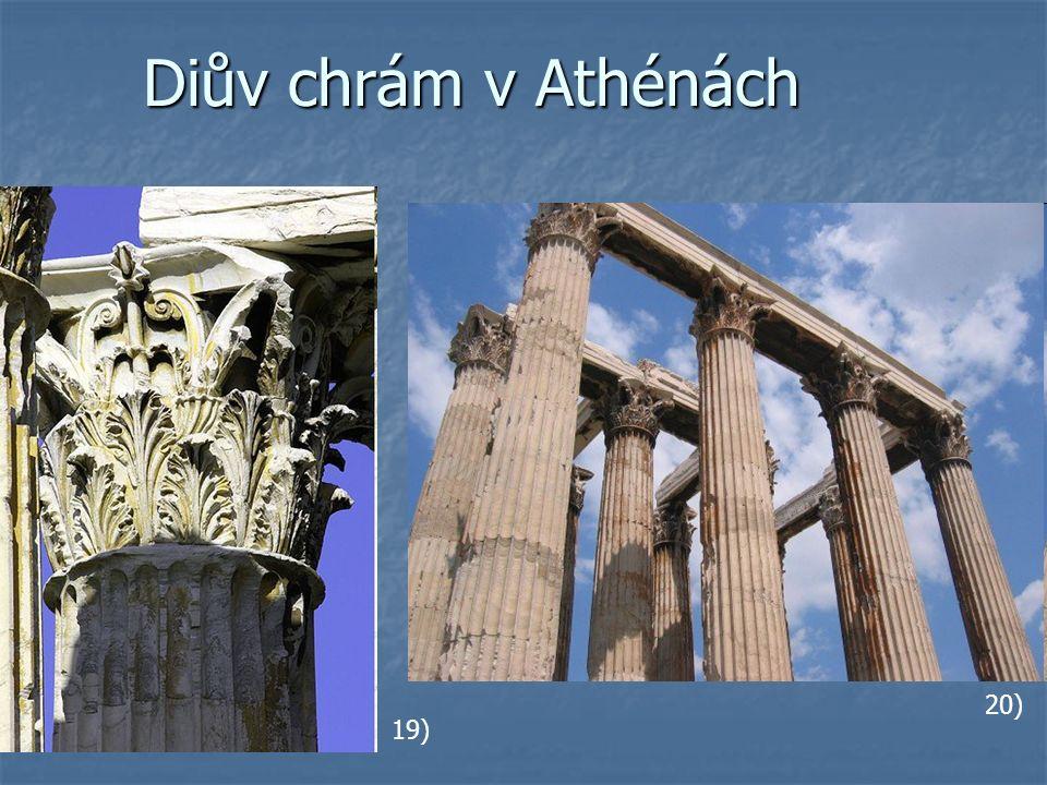 Diův chrám v Athénách 19) 20)
