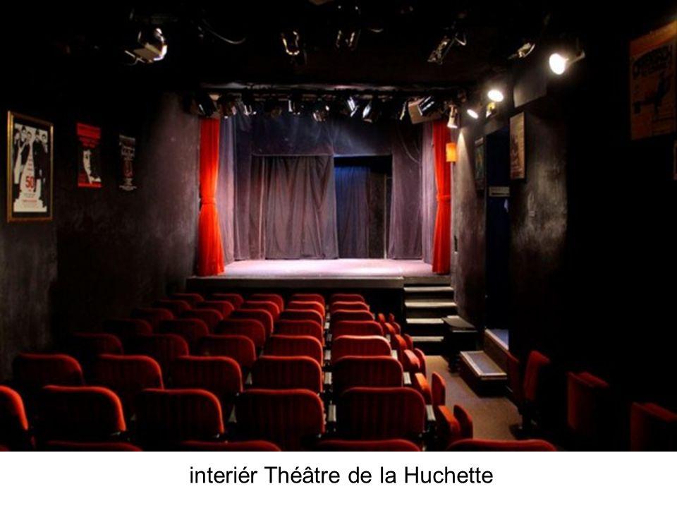 interiér Théâtre de la Huchette