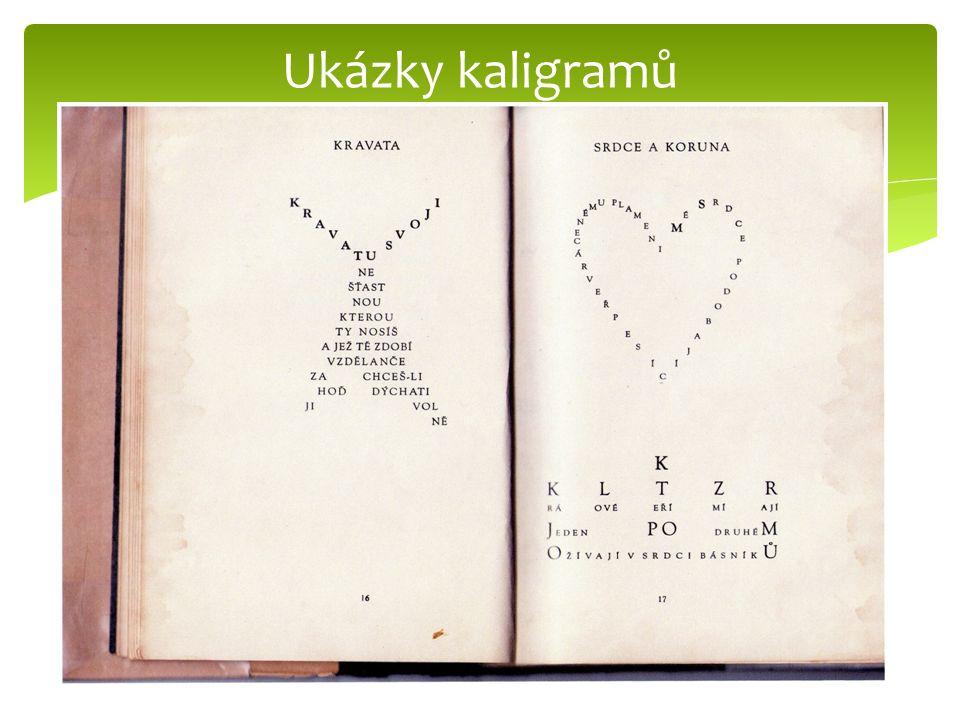 Ukázky kaligramů