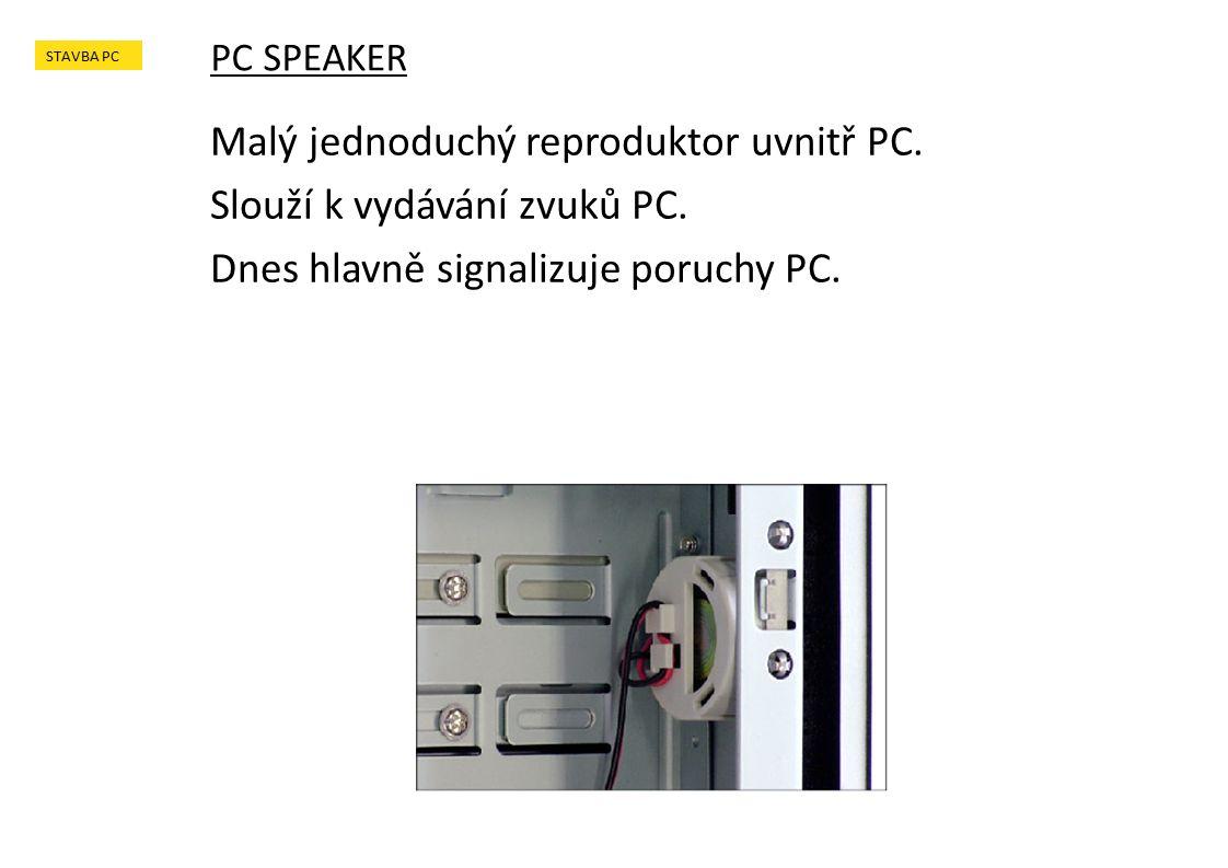Malý jednoduchý reproduktor uvnitř PC. Slouží k vydávání zvuků PC.