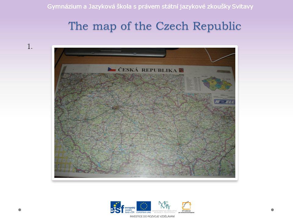 Gymnázium a Jazyková škola s právem státní jazykové zkoušky Svitavy The map of the Czech Republic 1.