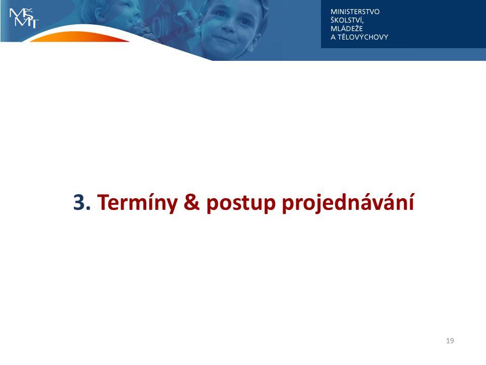3. Termíny & postup projednávání 19