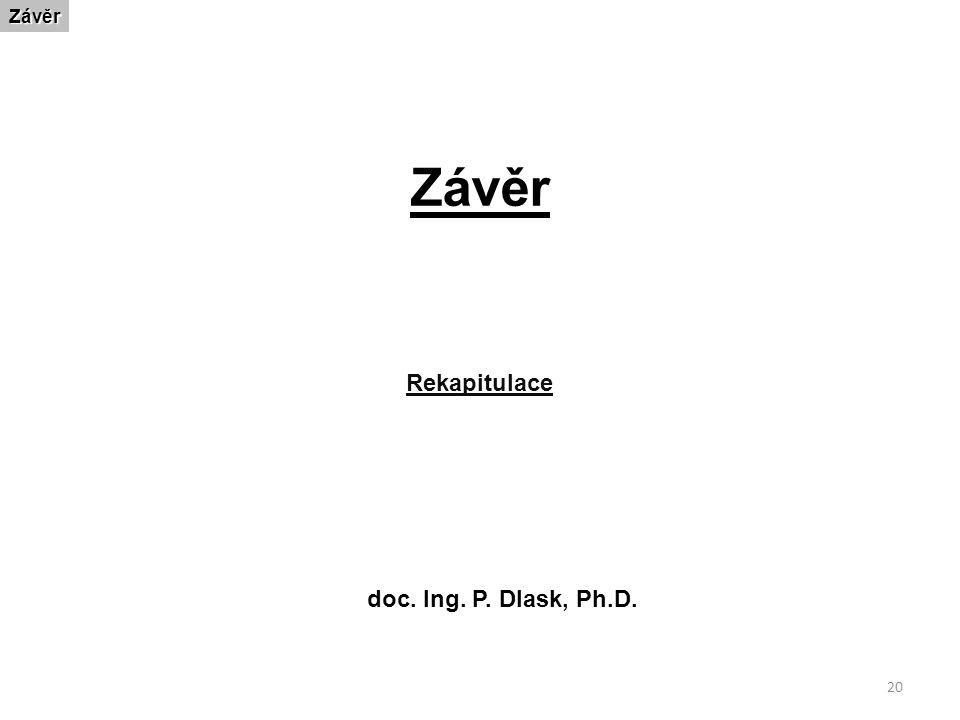 ZávěrZávěr Rekapitulace doc. Ing. P. Dlask, Ph.D. 20