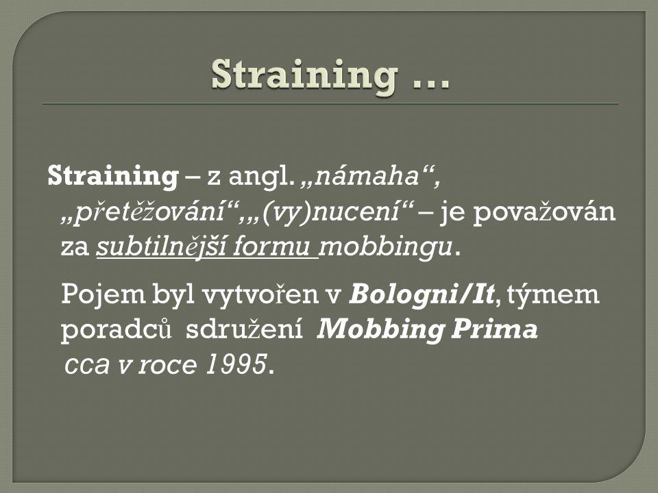 Straining – z angl.