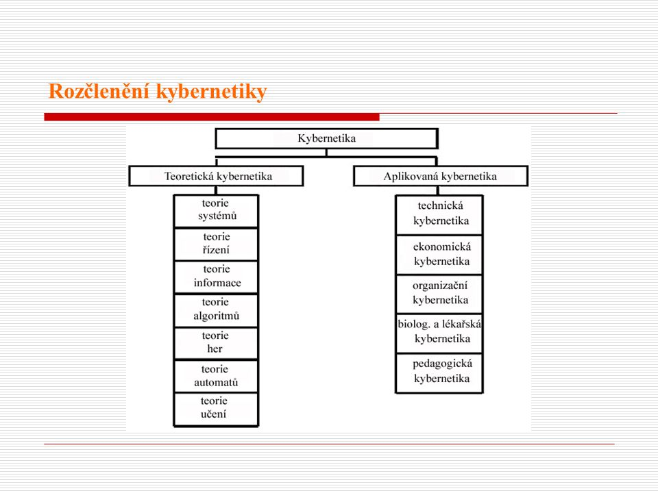 Rozčlenění kybernetiky