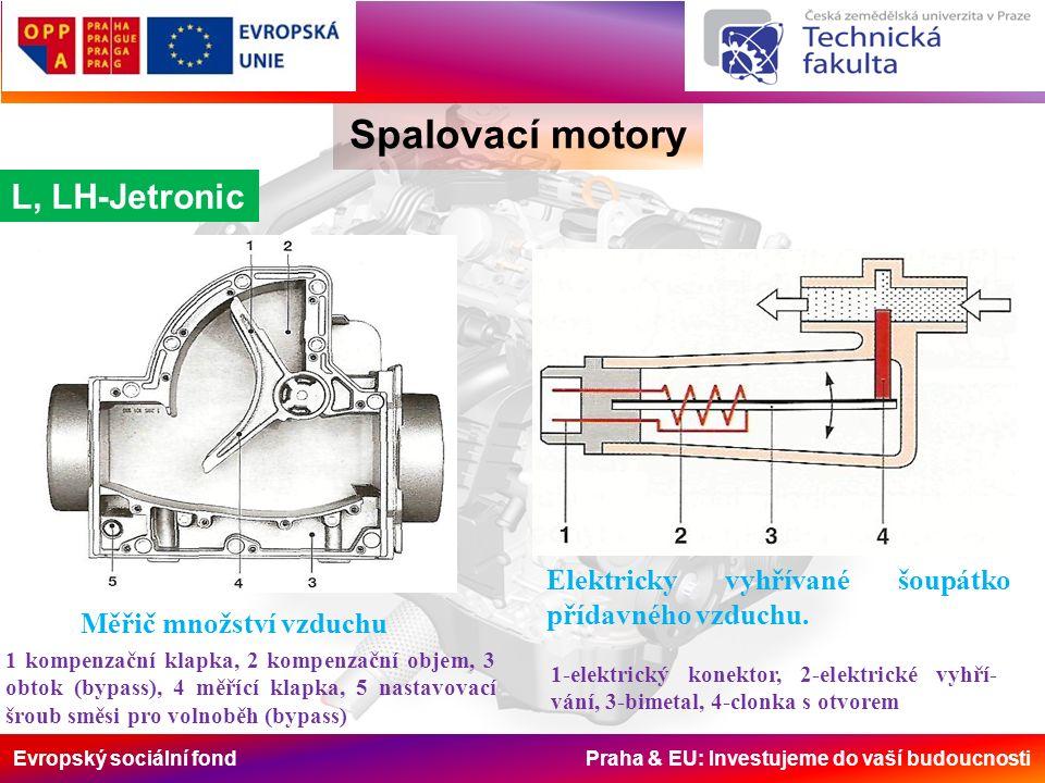 Evropský sociální fond Praha & EU: Investujeme do vaší budoucnosti Spalovací motory L, LH-Jetronic Elektricky vyhřívané šoupátko přídavného vzduchu.