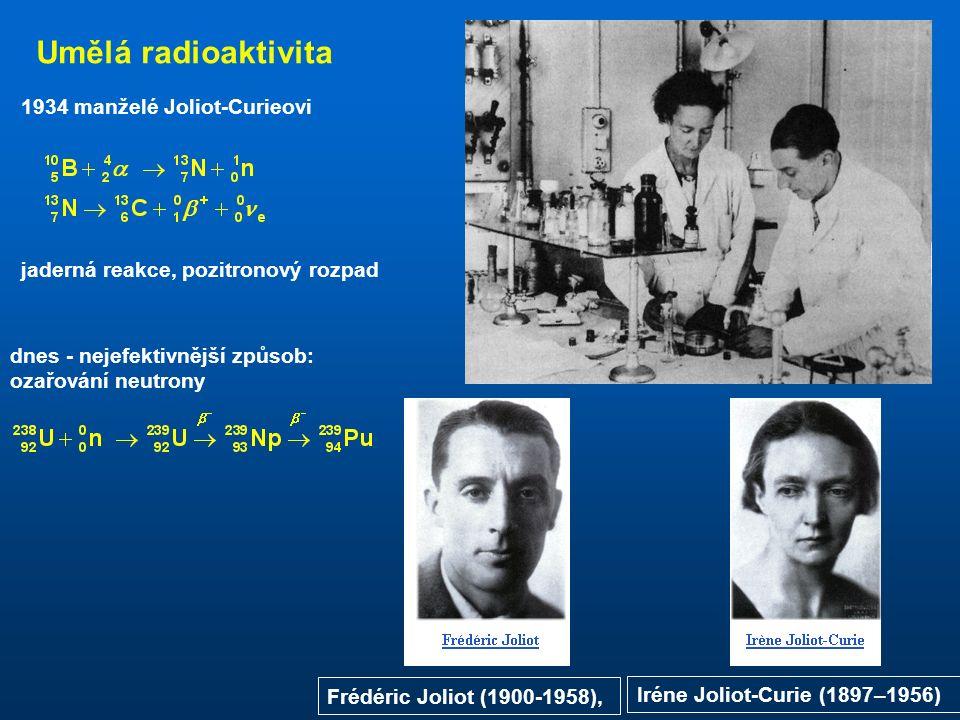 Radioaktivní přeměny Rutherford: radioaktivní záření je projevem přeměny (rozpadu) atomových jader.