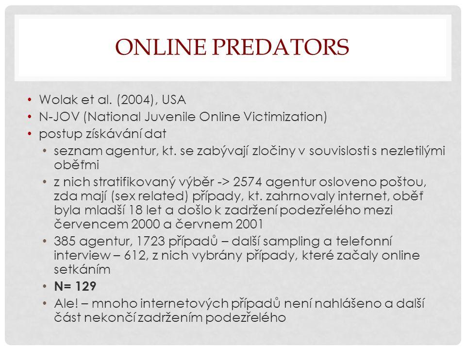 ONLINE PREDATORS Wolak et al.