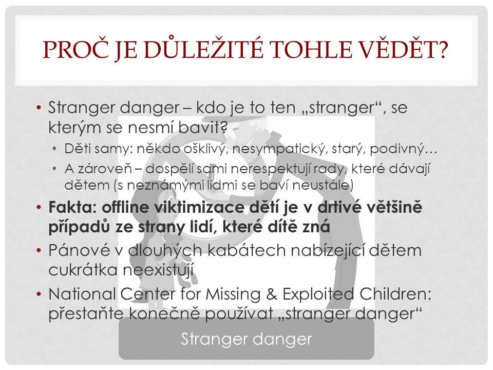 """PROČ JE DŮLEŽITÉ TOHLE VĚDĚT. Stranger danger – kdo je to ten """"stranger , se kterým se nesmí bavit."""