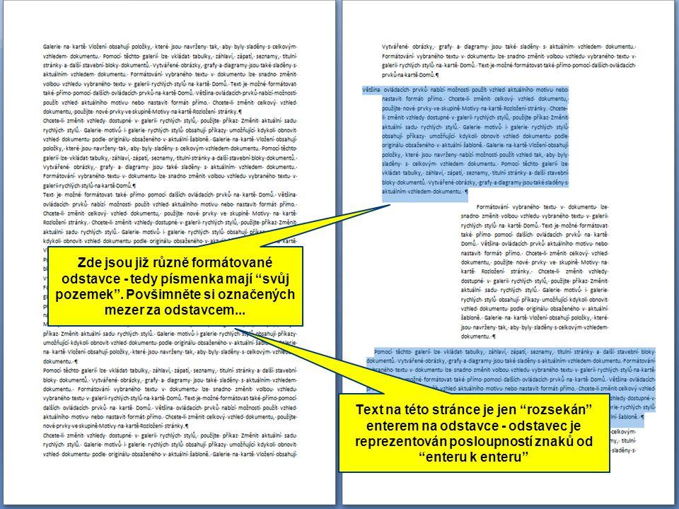 Tvorba strukturované práce ●vytvořenou osnovu zobrazíme v Rozložení při tisku ●pro nadpisy 1.