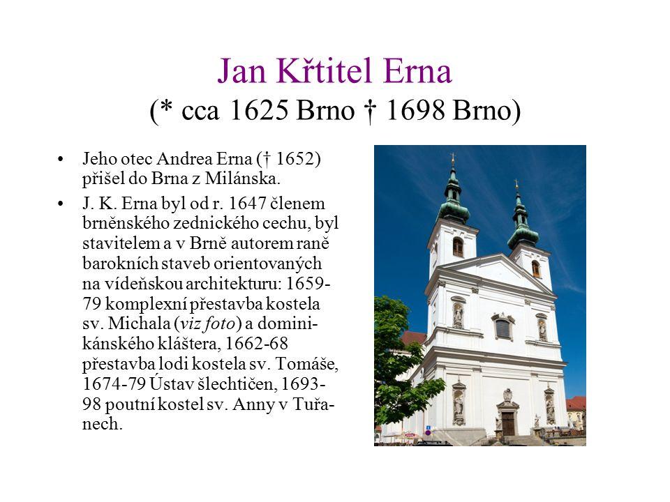 Mořic Grimm (* 1669 Achdorf u Landshutu † 1757 Brno) Pocházel z Bavorska, prošel Prahou (tam doložen 1690).