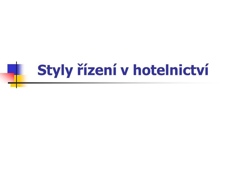 Styly řízení v hotelnictví