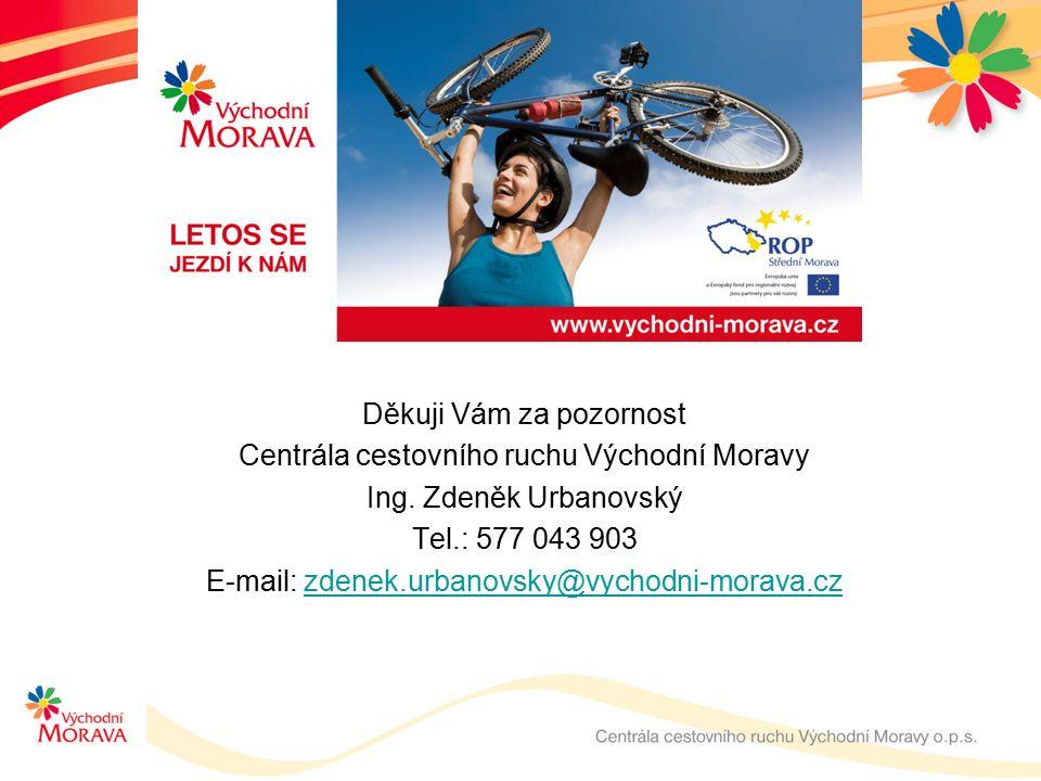 Děkuji Vám za pozornost Centrála cestovního ruchu Východní Moravy Ing.
