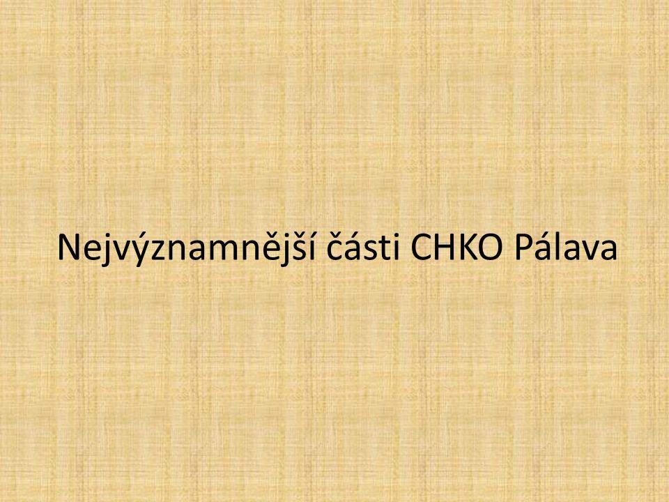 Nejvýznamnější části CHKO Pálava