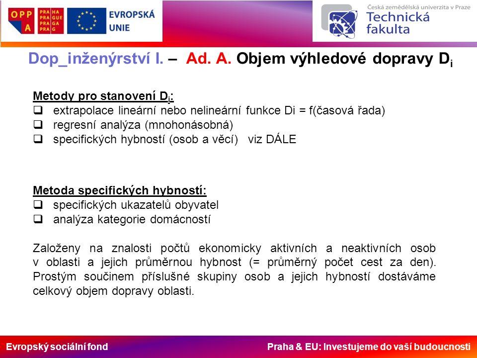 Evropský sociální fond Praha & EU: Investujeme do vaší budoucnosti Dop_inženýrství I.
