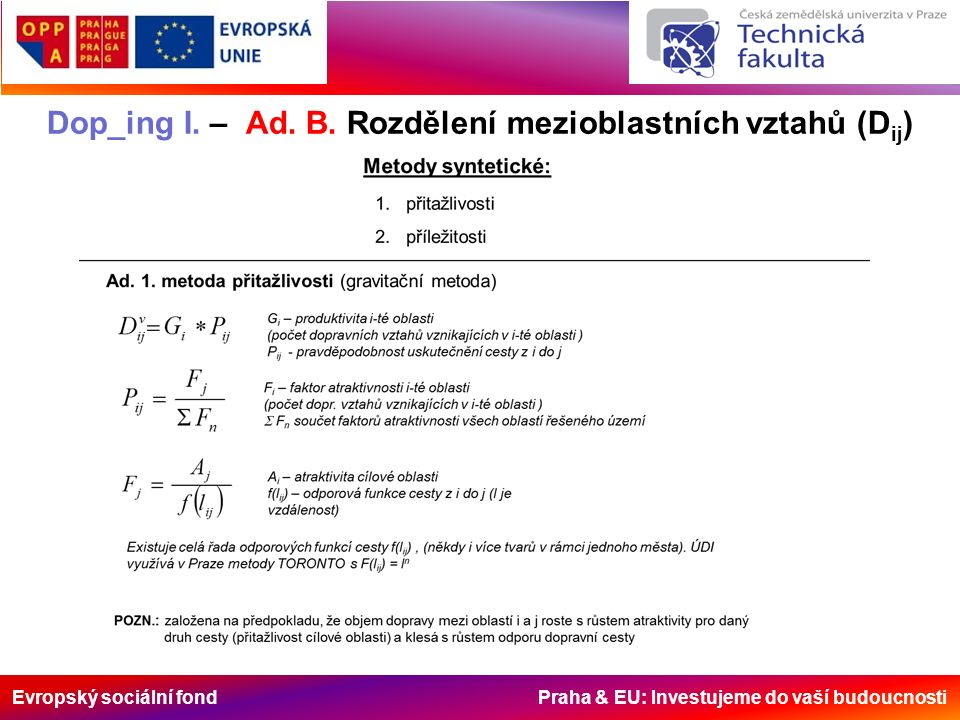 Evropský sociální fond Praha & EU: Investujeme do vaší budoucnosti Dop_ing I.